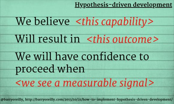 hypothesis-driven development